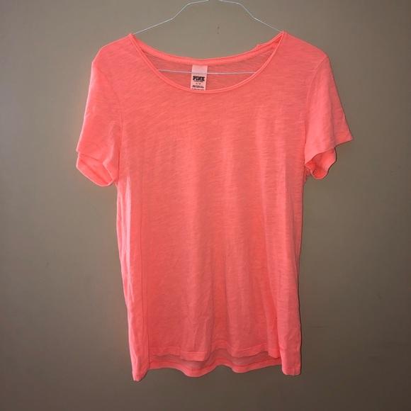 Neon Orange T-Shirt LOVE PINK Victoria Secret